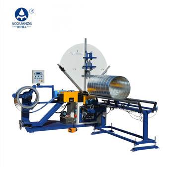 HAVC round pipe spiral duct making machine for air duct ventilation