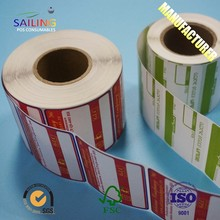 Beveiliging Clear Adhesive Custom Roll Label Sticker