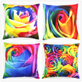 Latest Design Warm Winter Decorative Painting Rose Design Custom Photo Print Large Cushion Cover Pillow Case HT-PPSDPC-B-21-24