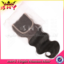 Unprocessed virgin brazilian hair lace front closure cheap stock silk base closure