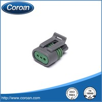 3 pin plastic female auto connector 12162280 for automotive application ,electric application and wire harness