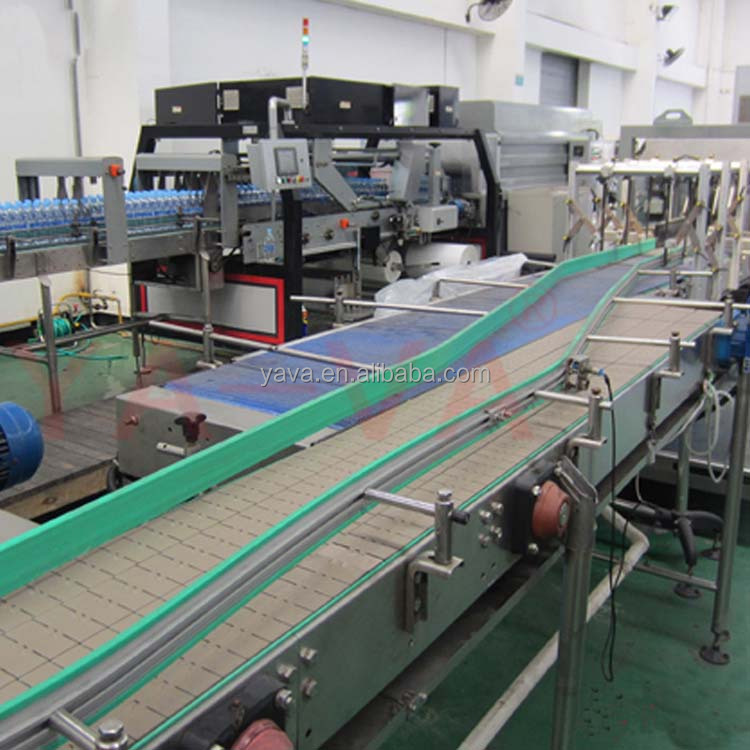 Slat Chain Conveyor System / Plastic Linear Table Top Conveyor for Bottles
