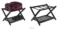 Bamboo folding luggage rack