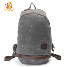 Waterpoof Canvas and leather Ladies Backpack, School Backpack Bag for girl