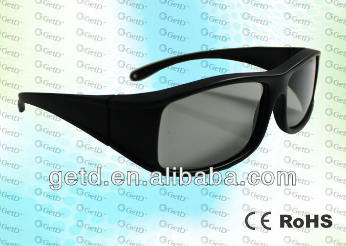 sunglass passive 3D glasses/eyewears for TV and cinema