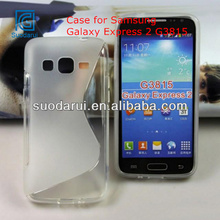 S Line Wave Curve Gel TPU Case For Samsung Galaxy Express 2 G3815