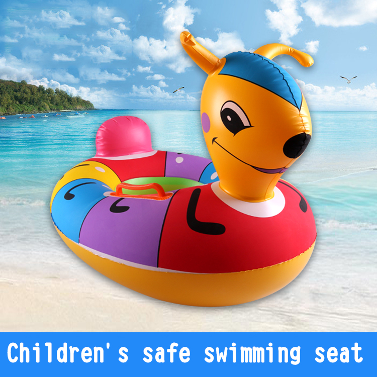 wholesale super cute High quality cartoon inflatable Baby Swimming Riding Ring for kids toy