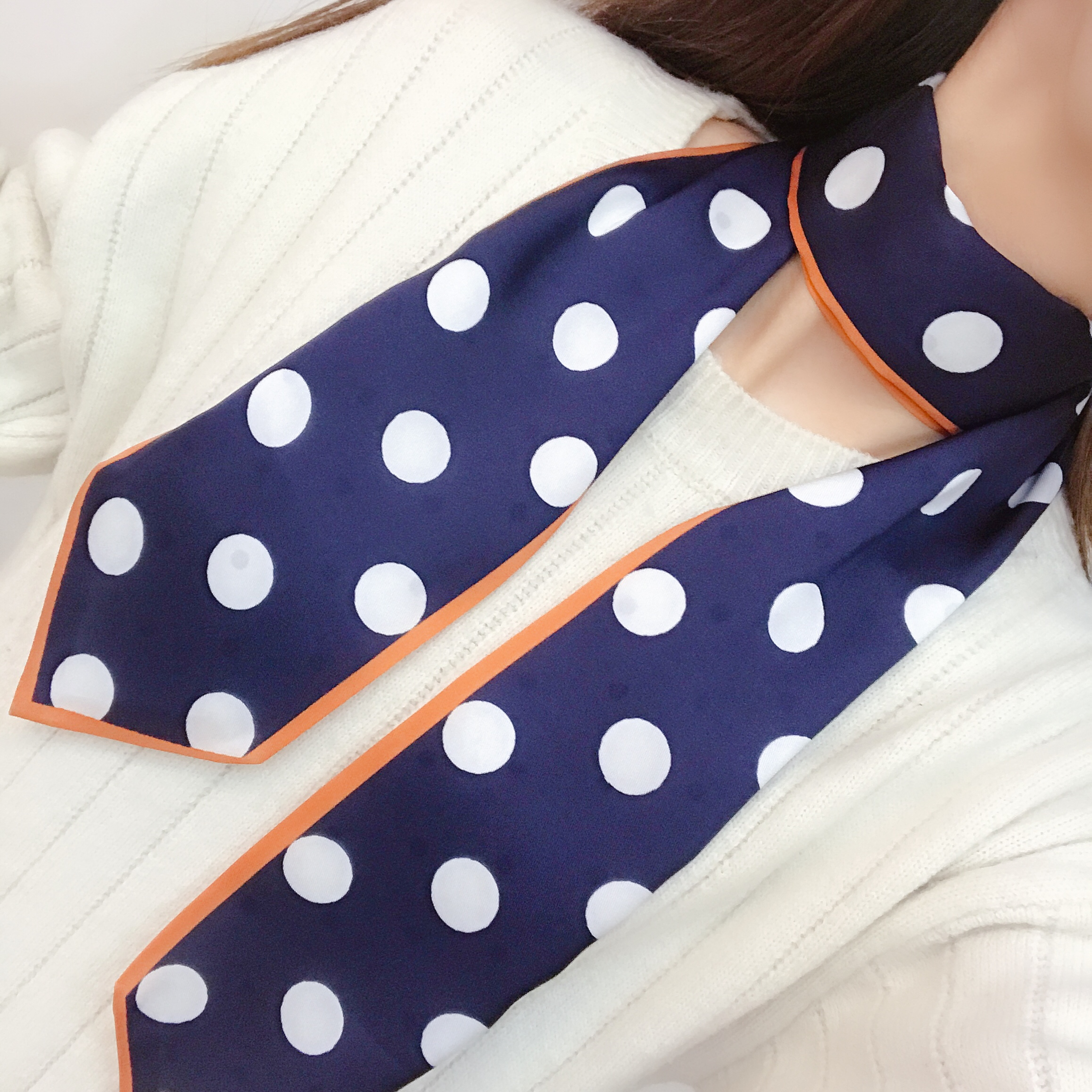 New Popular Classic Dot Printing Design Neck Tie Scarf for Wholesale