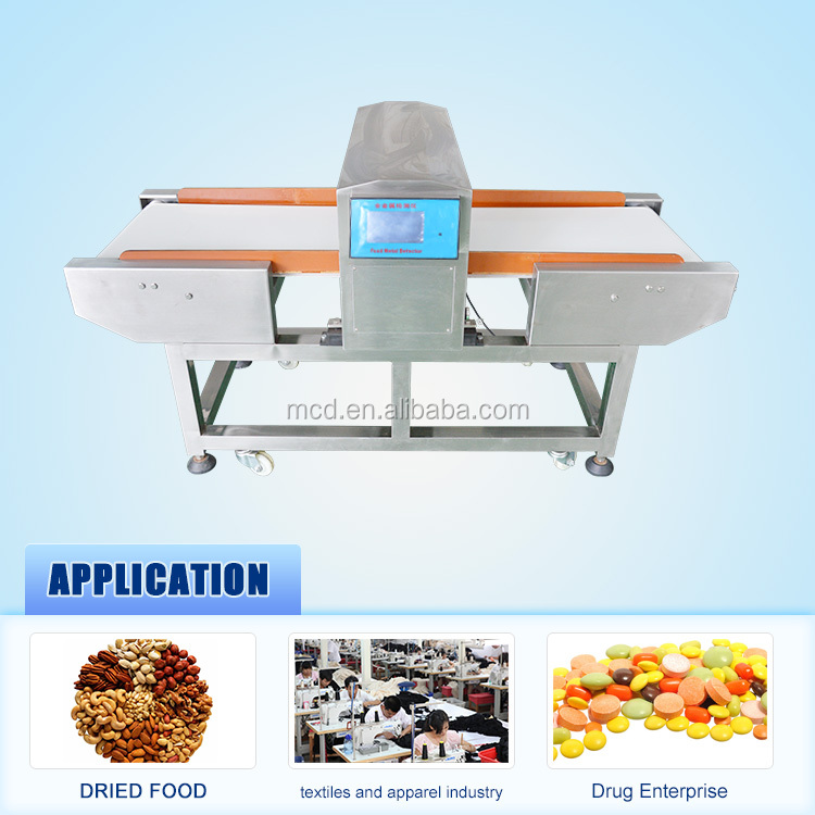 Auto-Conveying Food Industrial Metal Detector MCD-F500QD with LCD Screen
