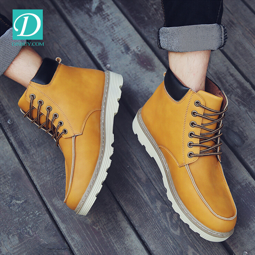 Hot Newest Keep Warm Man Winter Boots High Quality Oxhide Leather Casual Boot
