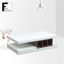 Modern New Style Design White Finish coffee table