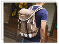 Wholesale leisure men's backpack male and female canvas duffel bag fashion students bag