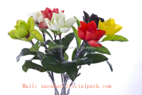 artificial single rubber flower,real touch magnolia flower,magnolia flower