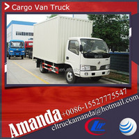Dongfeng 4*2 95hp 4 ton small delivery van, delivery van prices