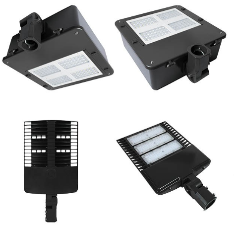 DLC ETL approved led post top fixture 100w circular garden light ip65 LED post top light yard lamp