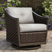 deep seating granite top table and wicker swivel chair cast aluminum outdoor furniture