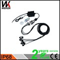 WEIKEN 4 Pods Kit 9W Under car body light single color RGB Bluetooth remote led rock light