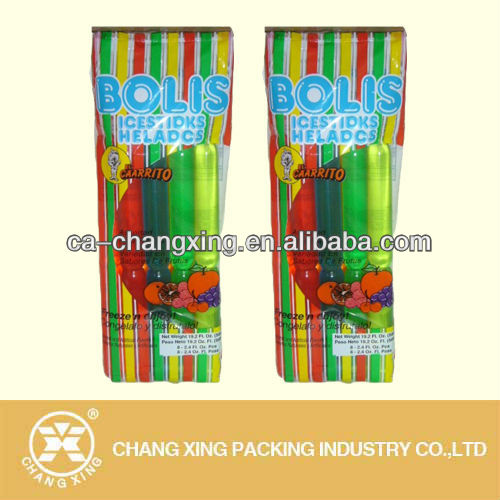 Customise plastic ice cream popsicle bag, ice bag, food bag for ice packing