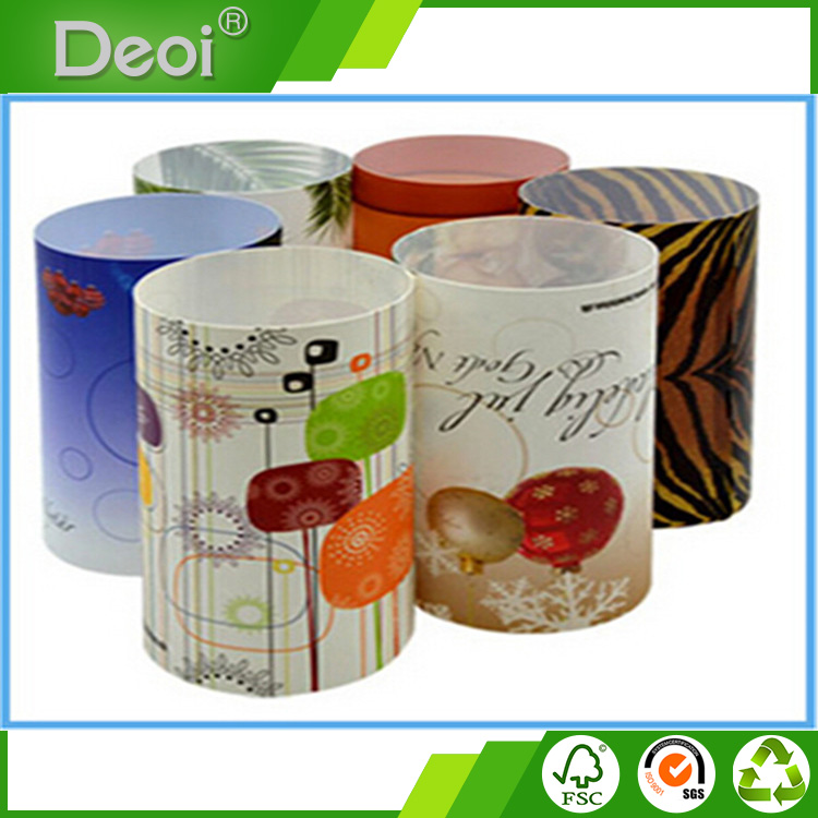 Deoi OEM factory custom 1mm Polypropylene light cover PP plastic round plastic lamp shade with any logo printing