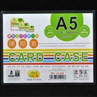 A5 Plastic Clear Hard PVC Card