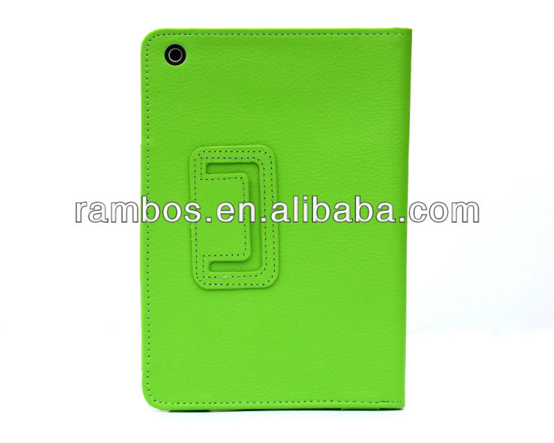 Pure Color Simple design leather cases for ipad mini, belt clip case for ipad mini