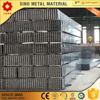 rhs welded galvanized steel square supplier ms square tube weight pre galvanized rectangular steel pipe