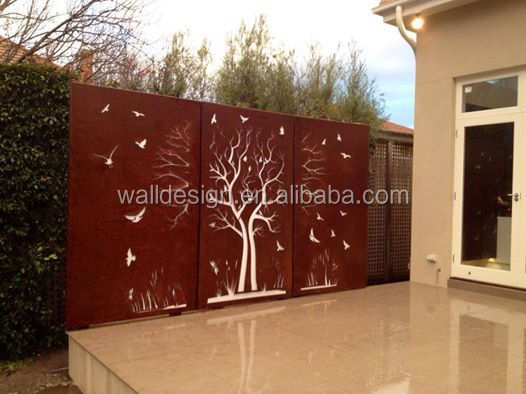 customized metal decor fence for city park