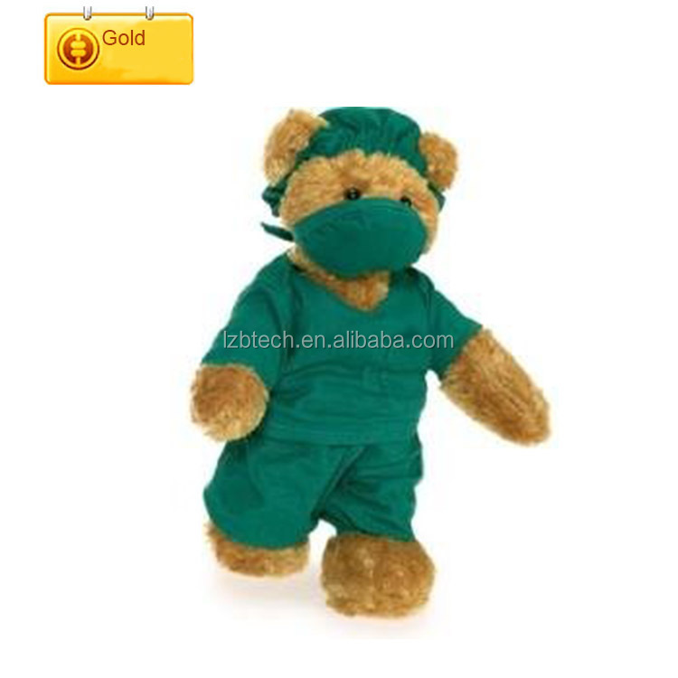 China factory Custom Doctor teddy bear stuffed nurse plush teddy toys soft doctor toy