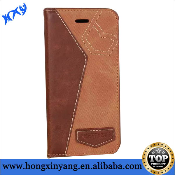 For Apple iPhone 6 Air 4.7'' Hit Corlor Flip Jeans Leather Card Stand Case Cover