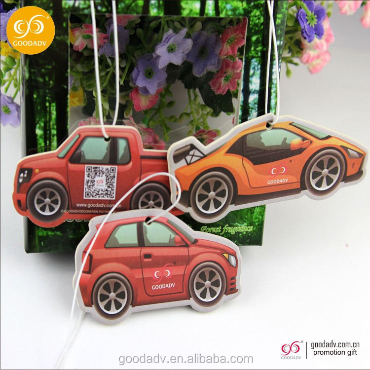 Promotional Best absorbent hanging paper car perfume with rope