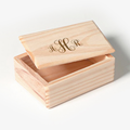 Wholesale personalized wooden mini storage keepsake box