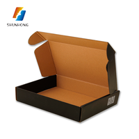 Wholesale Custom Printed Matte/glossy Finishing E flute Corrugated Mailer Shipping Foldable Paper shoe storage Box
