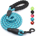 5 FT Dog Rope Leash With Comfortable Padded Handle And Highly Reflective Threads Dog Leash