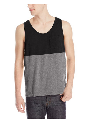 Loose Fit Mens Tank Top Pocket