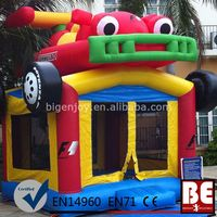 Inflatable Cheap 18Oz Vinyl Monster Truck Bounce House