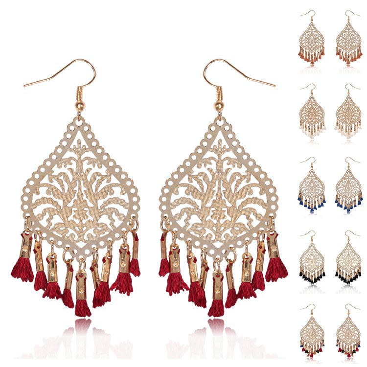 XY-043 Indian Style Gold Jhumka Earrings Design For Women India Earrings Indian Earring