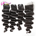 Wholesale lastest hair weave brazilian remy human hair loose deep wave
