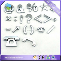 Hot Sell!! Promotion Letter Design 3D Car Emblems And Logo