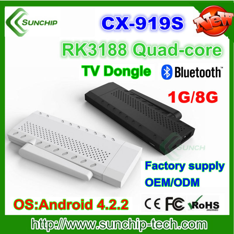 Quad Core RK 3188 Andriod 4.2 TV Box Antenna Strongest qual-core Android TV BOX