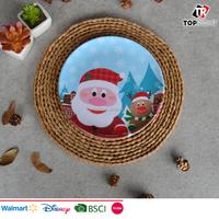 Plastic melamine festival Christmas round dinner plates