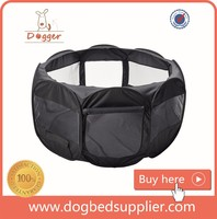 Black Portable Dog Puppy Cage 8 Panel Pet Playpen