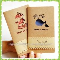 Brown kraft paper Chrismas greeting cards printing