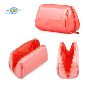 Waterproof pvc cosmetic pouch with zipper makeup bag