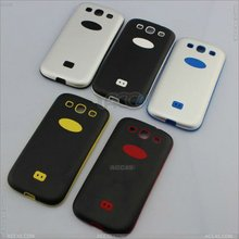 New item case/ Silicone + Aluminum material Case Cover for SAMSUNG Galaxy S3 /i9300 p-sami9300hcs0031