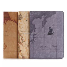 Map Design Stand Leather Case For iPad Air 2