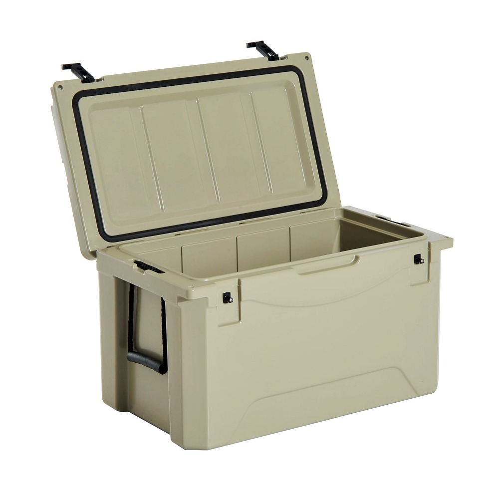 Mellow rotational plastic cooler box insulated ice transport container Durable storage box with lock
