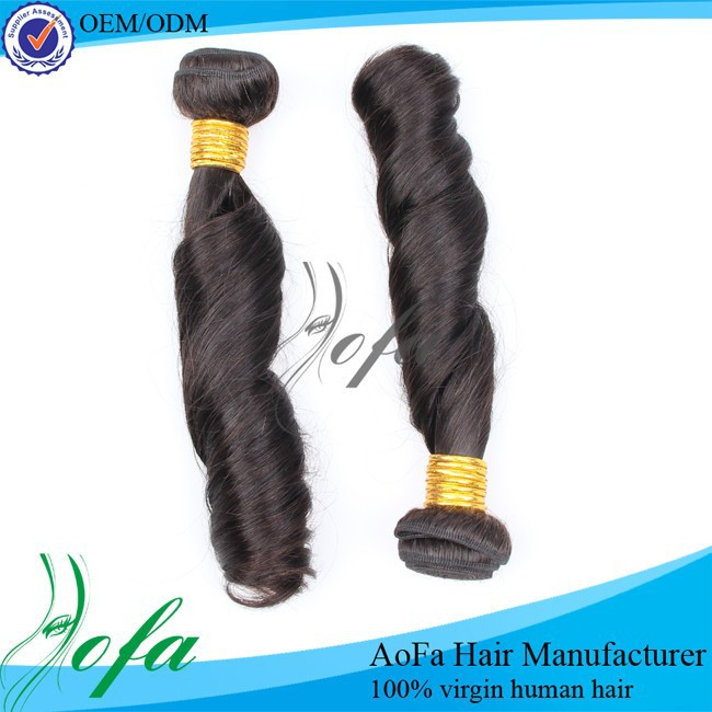 Best price large stock spring curl virgin remy peruvian human hair