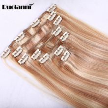 Cuticle Intact16- 30 Inch Hair Extensions Clip In human hair