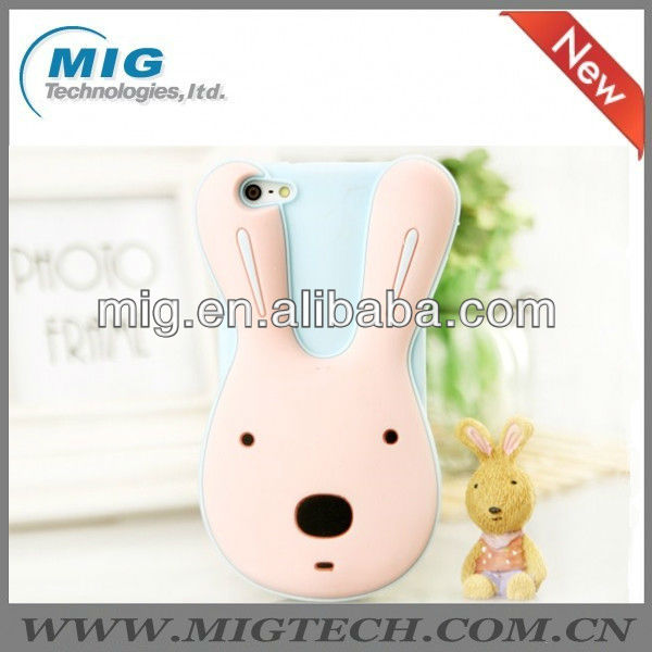 "new product cute rabbit silicon phone case for iphone 5S, for iphone 5"" original"