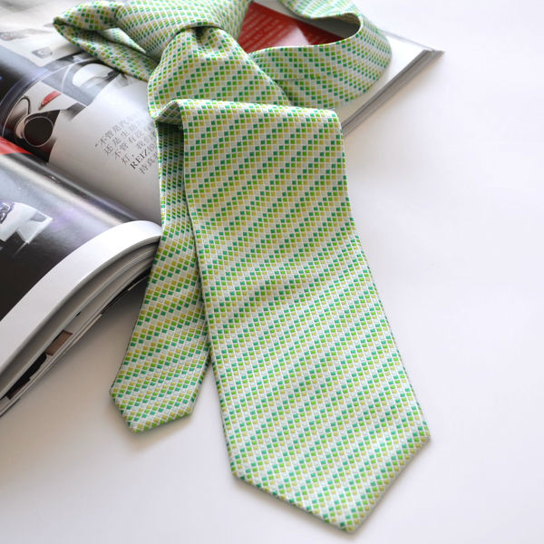 silk tie for men green tie